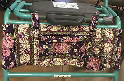 Hand Made Quilted Walker Organizer With Pockets