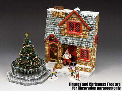 King & Country Christmas Special Xm019-02 Santa's Christmas Cottage Mib