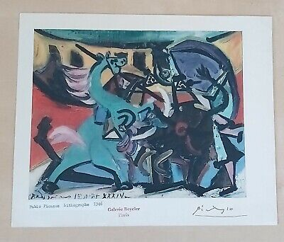 Pablo Picasso Lithographic Hand Signed