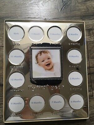Disney Baby Photo Frame Displayed By Month Silver