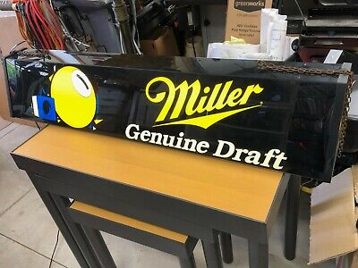 Miller Genuine Draft Beer Pool Table Billiard Lighted Sign