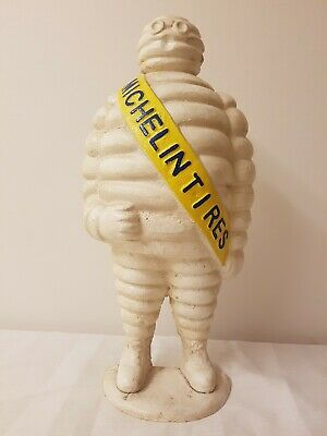 Cast Iron Michelin Man Large Door Stop Collectable Mascot - Hand Painted - 55cm
