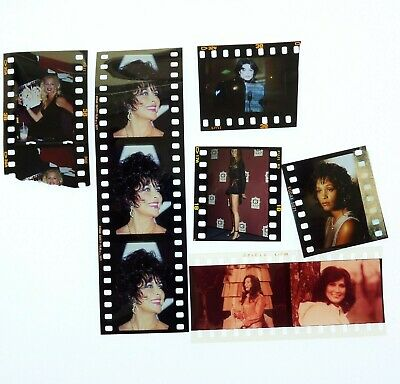mixed lot 35mm transparencies Michael Jackson, Whitney Houston, Traci Lords