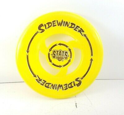 RARE Vintage Imperial Toy Company 1992 Yellow Stats Sidewinder Frisbee
