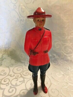Vintage 1940's Celluloid Plastic Standing Canadian Mountie Toy Figure