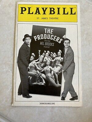 Play Bill Saint James Theatre The Producers