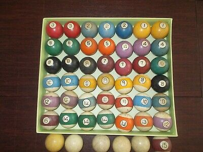 Antique Billiard/ Pool Clay Balls   (Size 2 1/4'')