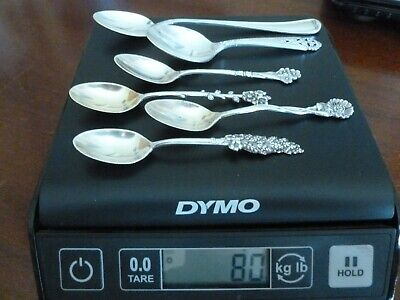 Antique sterling silver spoons 80 grams
