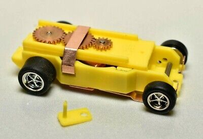 Yellow DASH T-JET SLOT CAR CHASSIS