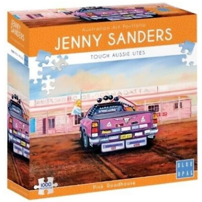 Tough Aussie Ute Roadhouse 1000 Pce Deluxe Puzzle Jigsaw Blue Opal Jenny Saunde