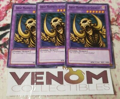 SBLS-EN034 Common 1st Edition NM Speed Duel 8x Great Mammoth of Goldfine