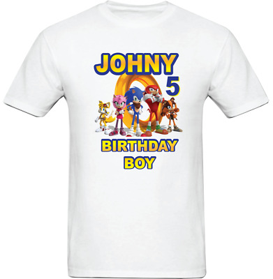 Sonic The Hedgehog Custom T Shirt Personalized Birthday Shirt 16 00 Picclick