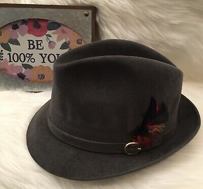 Dobbs Fifth Avenue New York Gray Howard Fedora 7 1/8