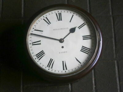 12 INCH  FUSEE CLOCK C1870 Holiwell Derby