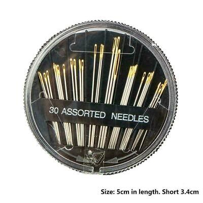 Sewing Needles Hand Sewing Embroidery 30 Different Easy Threader Threa Y5J9 A9M8