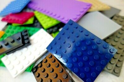 Lego 20 x Base Plates Boards Strips Bases in Mixed Colours