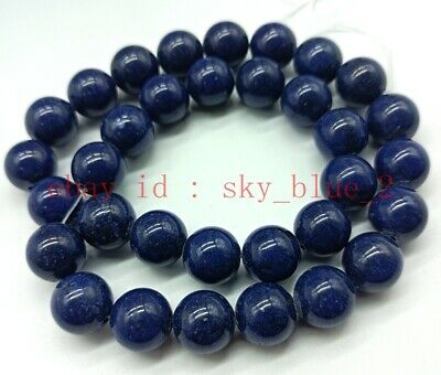 15x5mm Lapis Lazuli with Chrysocolla Round Loose Bead 15.5 inch 56g A-558TZ