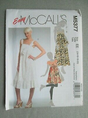 McCalls # M7536 Lined Dress with Variations  Pattern Sz 6-14 UC