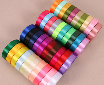 Satin Ribbon Double sided cut length - 3mm 6mm 10mm 16mm 25mm 38mm 50mm