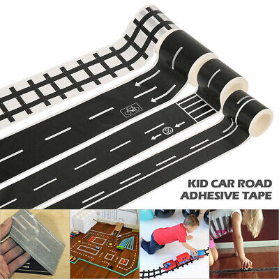 Kids Boy Road Play Tape for Toy Car Track Adhesive Tapes Roll Floor Sticker YU