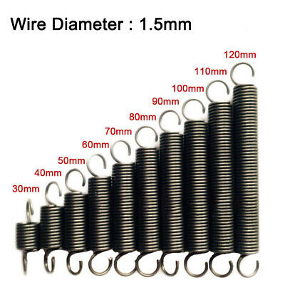 Extension Tension Big Spring Wire Dia 3.5mm 65Mn Springs Steel Outer Dia 18-28mm