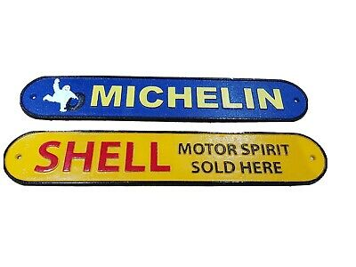 Vintage Style Shell Sign Cast Iron 50 cm Advertising Sign Garage Man Cave