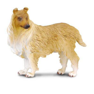 NIP CollectA 88192 Rough Haired Collie Puppy Replica Dog Figurine Model Toy
