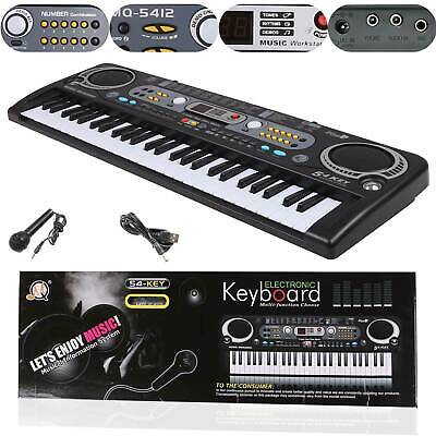 Musical Keyboard Piano 54 Keys Electronic Electric Digital Beginner Adult Set Pp