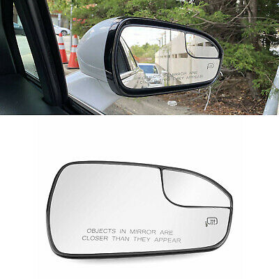 DNA Motoring OEM-MG-0507 Factory Style Left Side Mirror Glass Plate w//Heated+Spotter