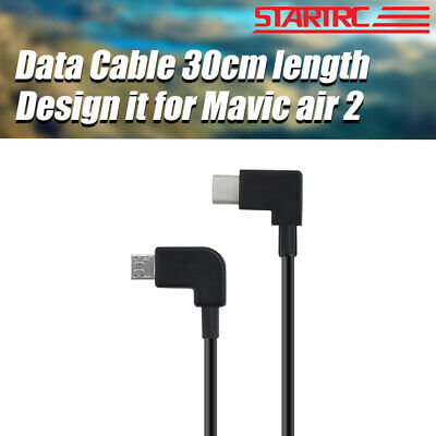 30cm Data Cable Type-C to Micro USB/IOS Android OTG For DJI Mavic Air 2 RC Drone