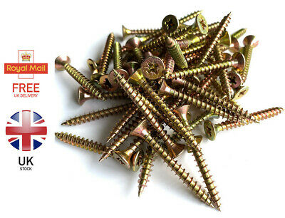 MULTI PURPOSE WOOD SCREWS POZI SIZES: 2.5 X 10mm - 6.0 X 40mm Free P&P