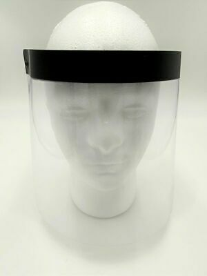 Black Face Shields Clear Protector, Made in USA