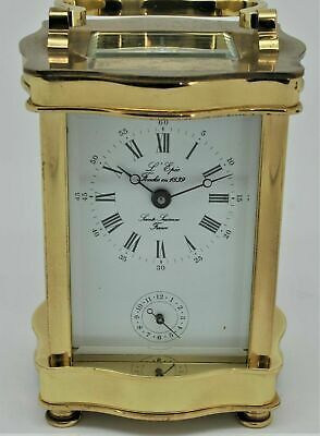 Superb Swiss L,Epee Bow Cased Carriage Alarm Clock Serviced For A Nurses Fund