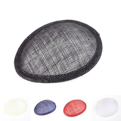 Sinamay material large oval fascinator base for millinery wedding hats HB019