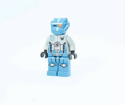 Lego Minifig Head Balaclava Bright Light Blue Face Coral Dark Azure Highlights