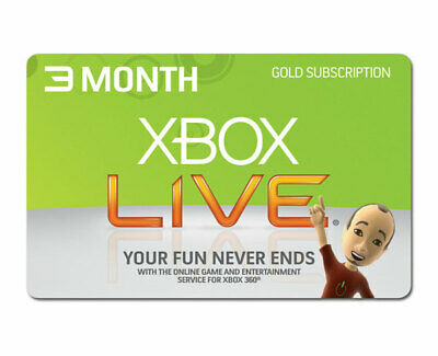 XBOX LIVE 3 MONTH GOLD MEMBERSHIP XBOX 360 ONE FAST DISPATCH (Brazil VPN)