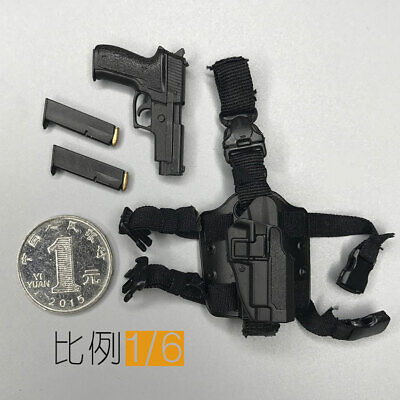 """1//6 Scale Soldier Legs Hanging with Pistol Model for 12/"""" Action Figure Doll Toys"""