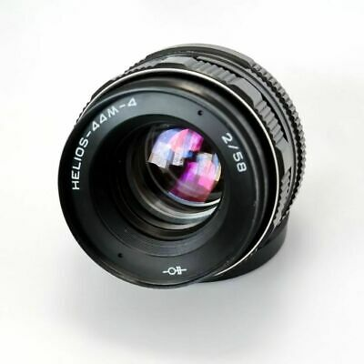 Helios 44m-4 lens 58mm M42 USSR Russia, with adapter for Canon, Nikon, Sony