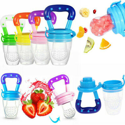 Baby Safe Feeding Pacifier Fresh Fruits Food Feeder Dummy Soother Weaning Nipple