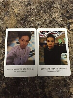 Mark Tuan Jackson Wang GOT7 Official Photocard set