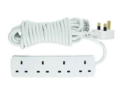 Status 13 Amp 4-Way Extension Socket With 5 Meter Lead Cable