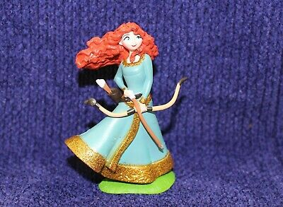 "Disney Store Brave Princess Merida Figure 3/"" PVC LOOSE Figurine Glitter NEW"