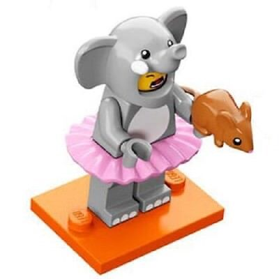 GENUINE LEGO SERIES 18 ELEPHANT SUIT GIRL MINIFIGURE KEYRING