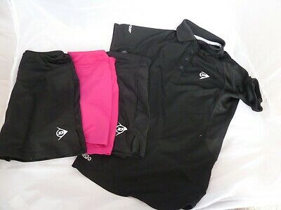 Dunlop Bundle Girls Tennis skorts + polo shirt size 140-152 cm = 10-12 years