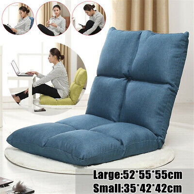52*55*55CM Foldable Lazy Sofa Single Bed Backrest Chair Floor Couch Gaming Home