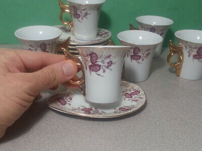 Noritake fine porcelain Lacewood Gold Tea Coffee cup and saucer pair set