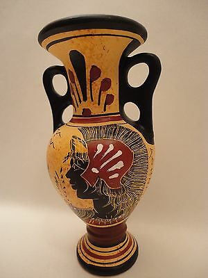 Goddess of Wisdom Athena & God Poseidon Ancient Greek Art Pottery Vase Vessel