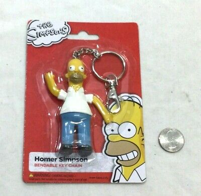 THE SIMPSONS BART SIMPSON BENDABLE KEYCHAIN CUTE!