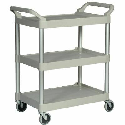 Rubbermaid Compact Utility Trolley Platinum - 250mm Clearance Between Shelves