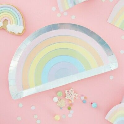 Pink /& Iridescent Unicorn Birthday Party Tableware by Ginger Ray Make a Wish